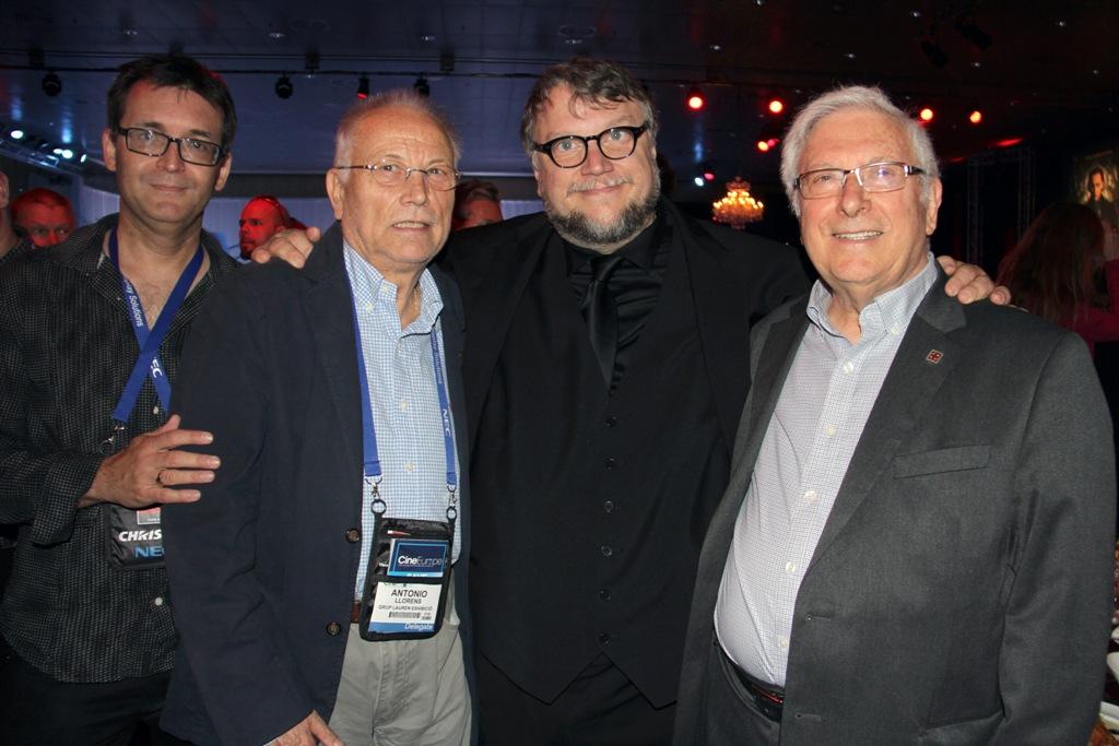 Angel sala, Antoni  Llorens, Guillermo del Toro y Josep M. Queraltó