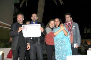 Mohamed Charbagi, Françoise Mamolar, Isona Passola,Hind Saïh y Hicham Falah