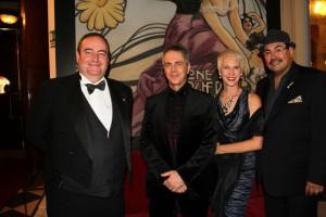 Jorge S. Bonet, Salvador Pérez, Ellen Brill, y Carlos Barbosa, en la gala de los Premios La Chioma di Berence